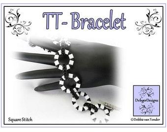 Beading Pattern, Tutorial, Tila and Twin Bracelet - TT