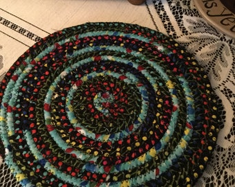 Table mat, candle mat, woven corded trivet,rubber bottom for no slide