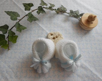 1 month baby booties