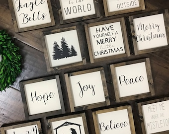 Christmas Mini Collection | Christmas Wood Sign | Farmhouse Style | Farmhouse Home Decor | Christmas Decor | Christmas Sign | Farmhouse Sign