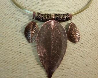 Set in copper red autumn leaf
