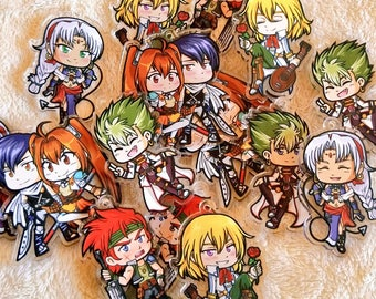 Trails In The Sky Acrylic Charms
