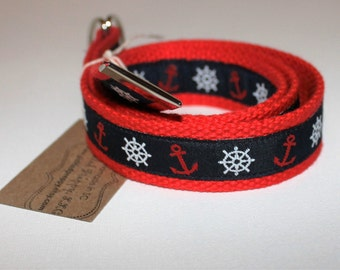 Preppy Nautical Anchor Belt for Boys and Girls