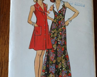Butterick Pattern #3635 Semi-fitted, A-Line Dress - Two Lengths - Size 14