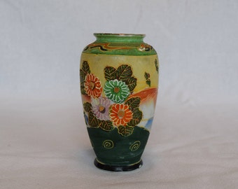 Flowered Moriage Vintage Vase