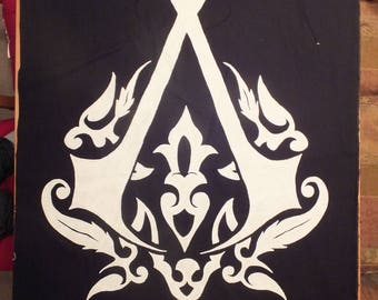 Hand-Painted, Ottoman Crest, Canvas Banner, Assassins Creed