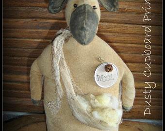 Have Ewe Any Wool~ Sheep Stump Doll E-pattern