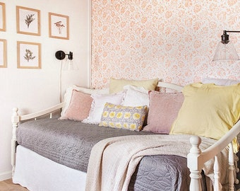 Large Floral Wall Stencil for Painting and Decorating Traditional Classic Floral Wallpaper Design - Shabby Chic, Farmhouse, Vintage Style