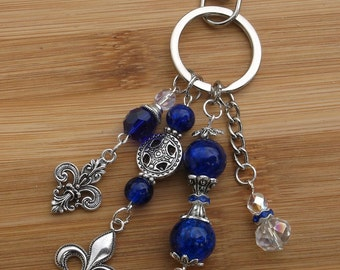 Fleur-de-lis key chain / bag / purse charm