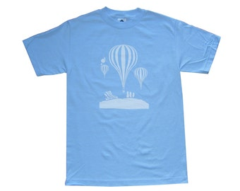 Balloons - Powder Blue T-Shirt **SALE ITEM**