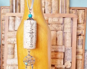 Wine Cork Ornament, Legend of the Vine Wine Cork Ornament, Wine Bottle Charm