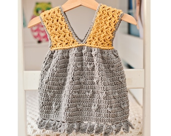 Crochet dress PATTERN - Little Miss Sunshine Dress (sizes up to 8 years)