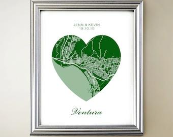Ventura Heart Map
