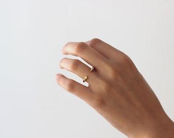 ouvrir or - bague en or bague-Tiny géométrique - ouvert - open bar bague - bague en or Simple - bijoux Minimal - indispensable bague
