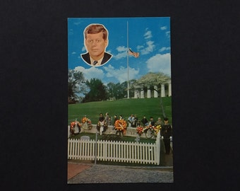 JFK Gravesite Postcard Arlington President Kennedy