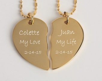 Couples Necklace Set Etsy