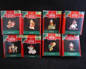 Set of 8 Hallmark Keepsake Miniature Ornaments