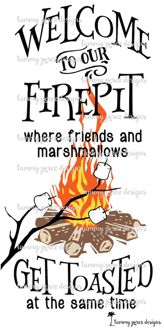 Welcome to our Firepit Campsite Campfire Bonfire SVG DXF