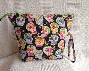 Sugar Skulls Wedge Project Bag