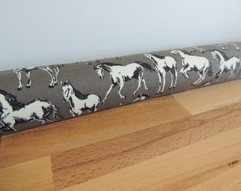 Pony Draft Stopper. Nursery decor. Horses. ponies room decor. Door or window snake. Draught excluder. House and home accessory. wild horses