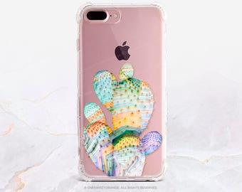 iPhone 8 Case iPhone X Case iPhone 7 Case Cacti Clear GRIP Rubber Case iPhone 7 Plus Clear Case iPhone SE Case Samsung S8 Plus Case U230