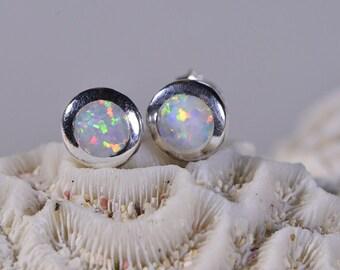 Opal Earrings Sterling Silver Opal Earrings Handmade Jewelry Sterling Silver Jewelry