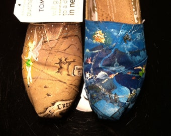 Peter Pan Inspired Painted TOMS