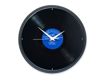 DJ Wall Clock Turntable from record vinyl with platter Gift