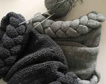 women's scarf, gray scarf, scarf, comforter, hood, wrap, cover, cowl, chunky hood, knit scarf, knitted scarf, circle scarf, pancreas sc