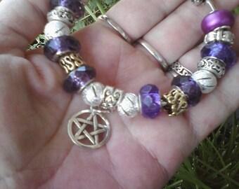 Pagan Wiccan, The Violet breath, Reiki, Euro style bracelet