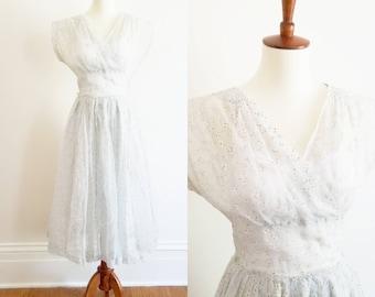 1950s Sheer Chiffon Dress