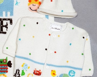 ArtWalk Alphabet Soup Sweater and Hat