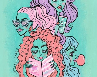 Turquoise girly gang by Neysa Bové