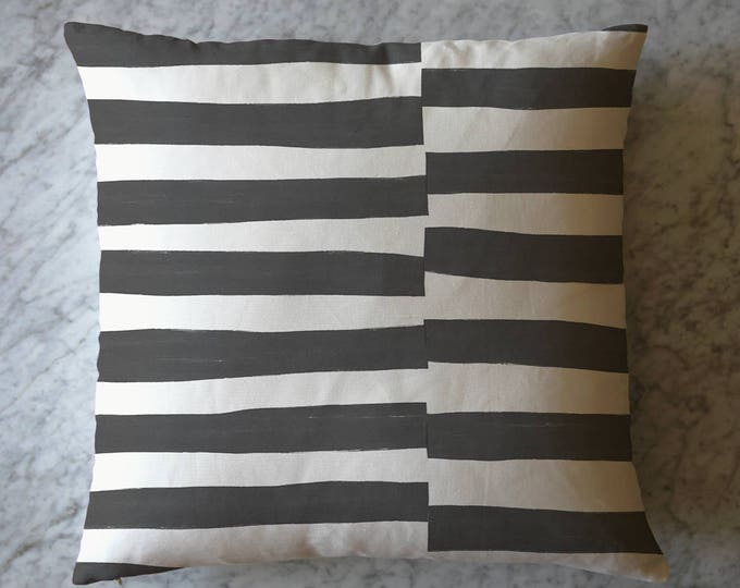 Stripe Pillow - Black and White