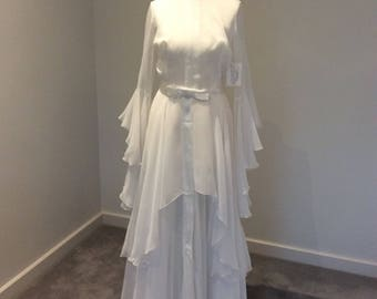 Vintage 1974 wedding gown