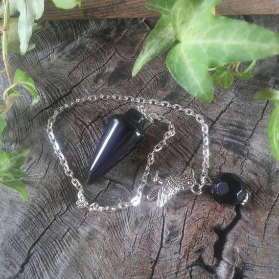 Obsidian Pendulum - Crystal Pendulum - Dowsing Pendulum - Witchcraft - Pendulum Crystal