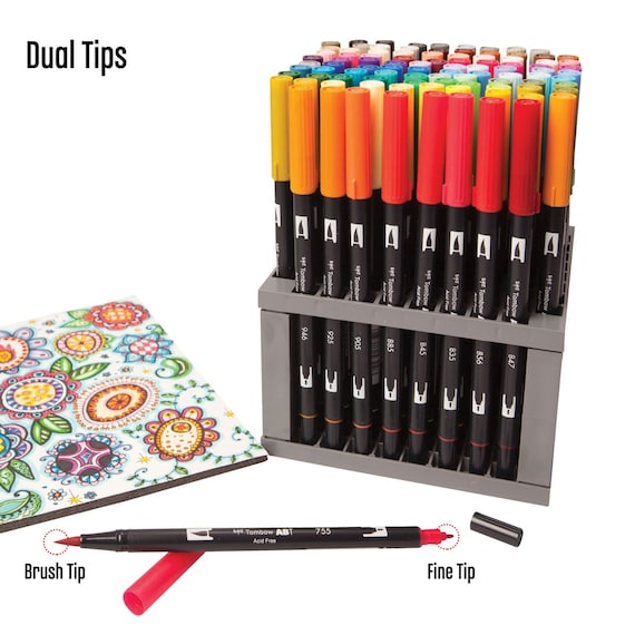 Dual Brush Fine Pro Markers Pen Set Colors Tombow Dual - Tombow abt markers