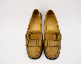 Tod's loafers women's shoes vintage rubber leather 36.5 EU