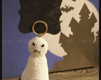 10 place cards ghost crochet: Halloween, or other event