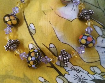 Handmade bracelet,  wedding cake, beads, glass beads, bracelet, wedding cake bracelet,  beaded bracelet, Boho jewelry,  Bohemian bracelet,