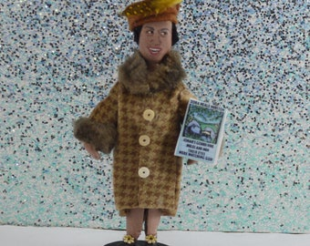 Zora Neale Hurston Art Doll Miniature Author Character African American Writers