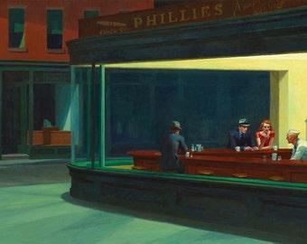 Canvas Gallery Wrap Giclee Nighthawks Edward Hopper