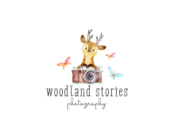 Newborn photography logo premade photography logo and