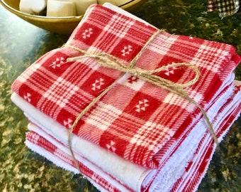 Cloth Paper Towels, Set of 8, Unpaper Towels, Cloth Napkins, Paper Towel Alternative, Reusable Cloth Napkin, Un Paper Towels, Ecofriendly