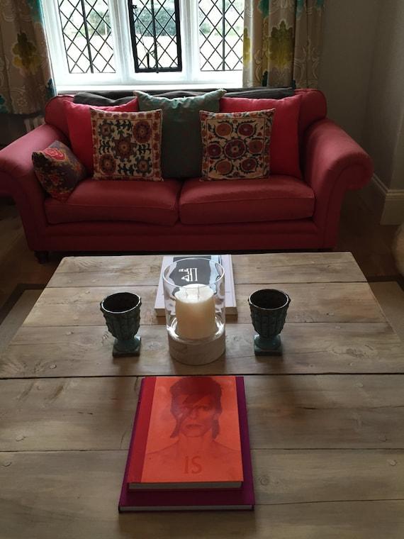Extra grueso grandes dificultades a mano café mesa de madera