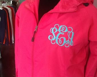 Monogrammed rain jacket, monogrammed rain coat