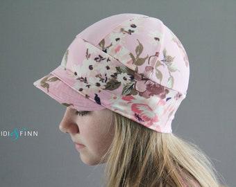 NEW Downtown t-shirt hat summer hat lightweight sunhat floral pink flowers spring rose bonnet beanie sun hat