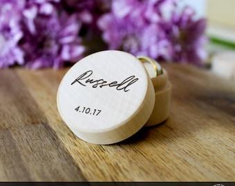 Custom Wedding Ring Box, Wooden Ring Box, Wedding Gift, Ring Bearer Box, Engraved Wooden Box, Custom Names Ring Box, Personalised Ring Box