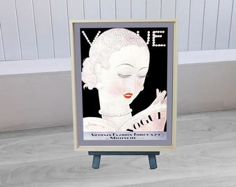 1921- Vogue Framed Canvas Print
