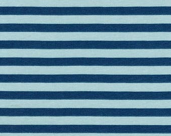 Stripes in Fog - Blake by Carolyn Friedlander - knit fabric